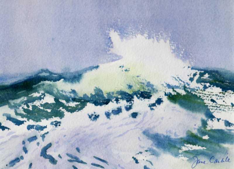 Wave Break #9 by  Jane Carlile - Masterpiece Online