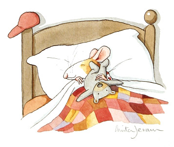 Little Mouse In Bed