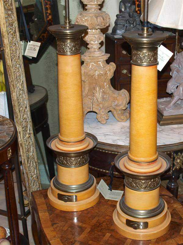 Pair of Column Lamps by  None None - Masterpiece Online
