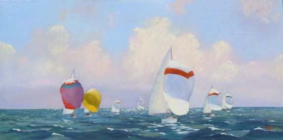 Spinnakers on the Pam... by  Charles Sharpe - Masterpiece Online