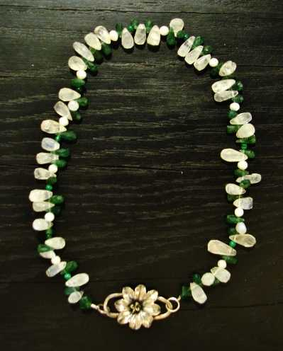Flower Clasp Necklace by    - Masterpiece Online