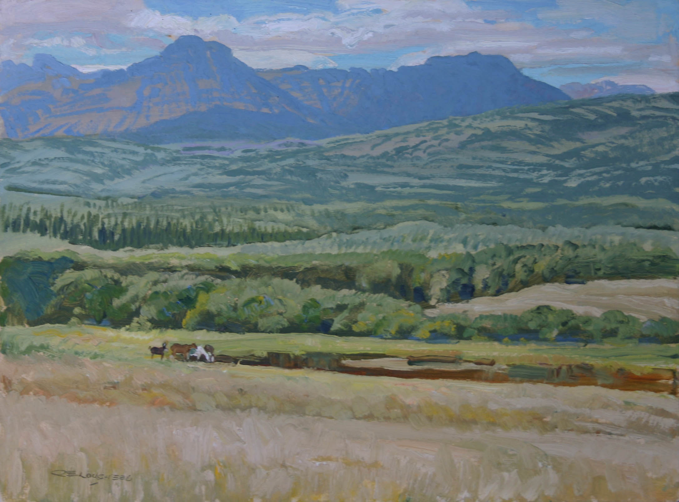 First View Of The Roc... by  Robert Lougheed - Masterpiece Online