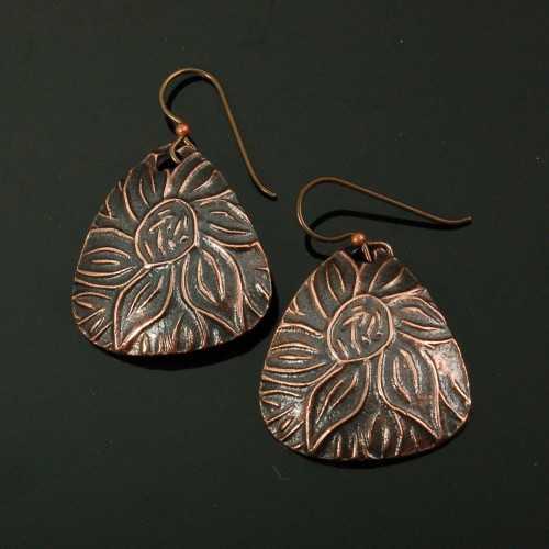 PRE1354 Copper Earrin... by  Pam East - Masterpiece Online
