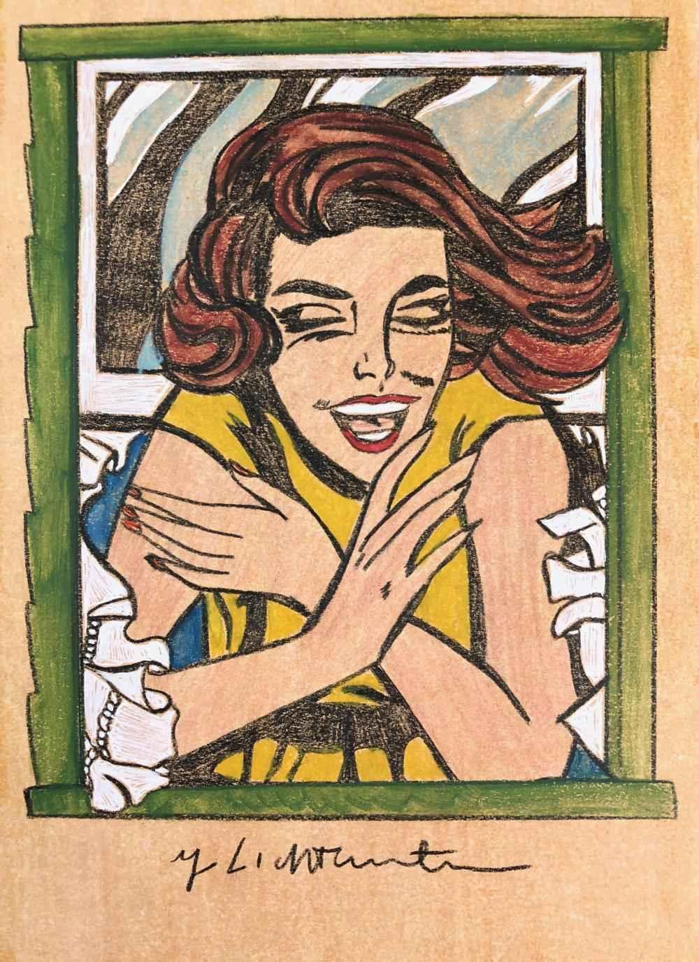 Girl in Window (Study... by  Roy Lichtenstein - Masterpiece Online