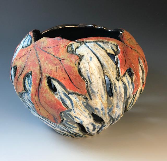 Red Maple Rim Candle Bowl