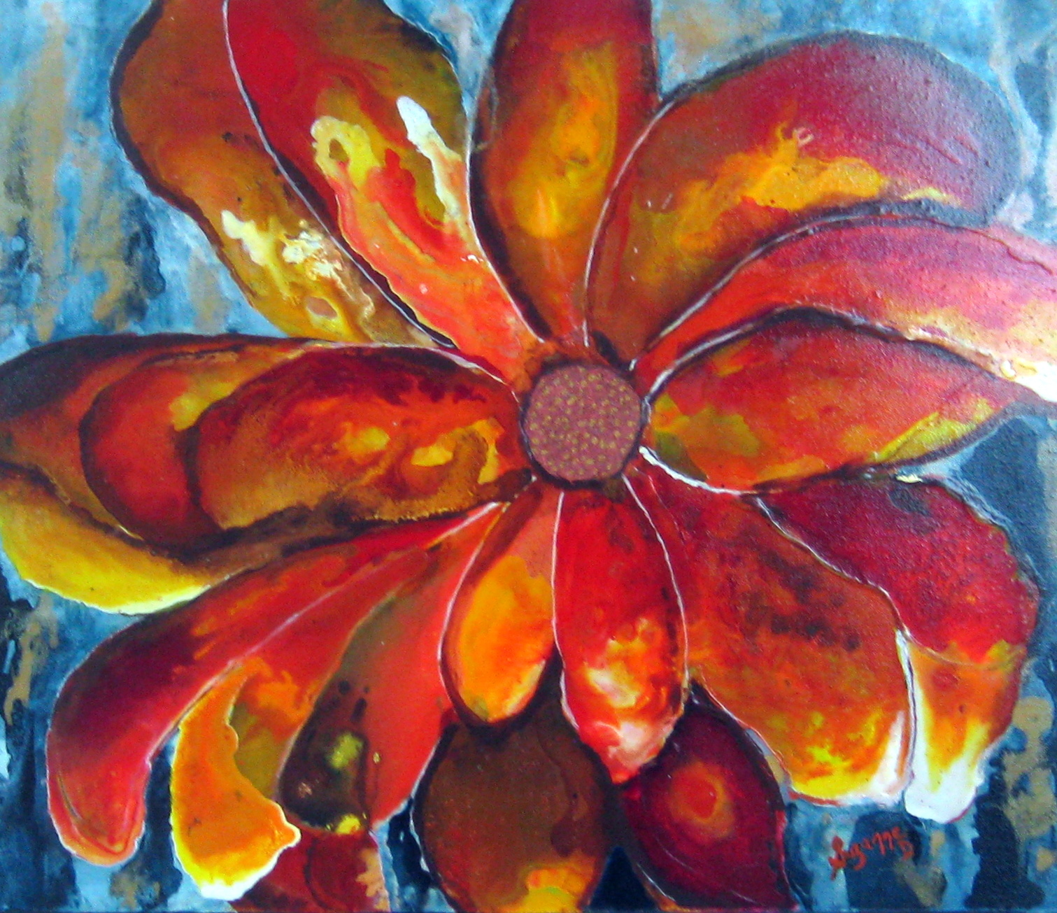 Burst Of Orange by  Suzanne Davis - Masterpiece Online