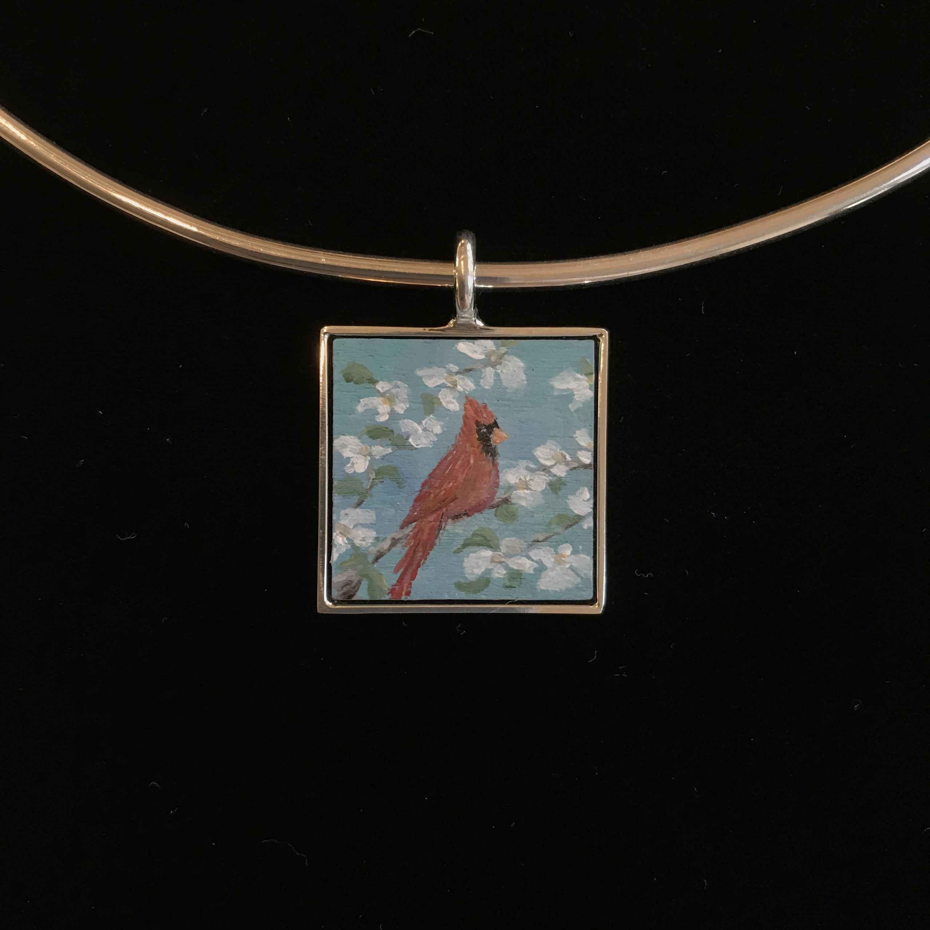#295 Sm Sq Cardinal by  Nell Mercier - Masterpiece Online