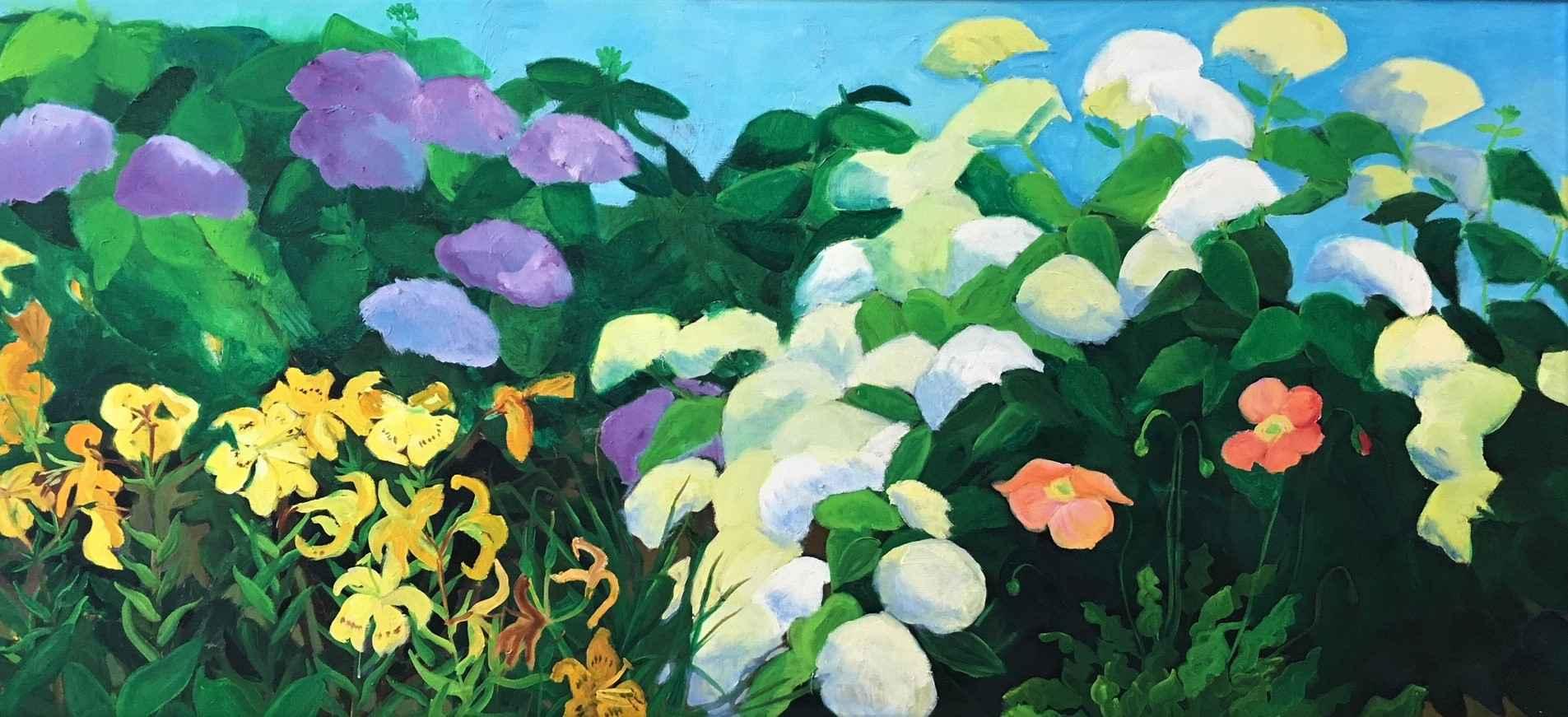 Yellow Lilly Garden by  Shirley Gittelsohn - Masterpiece Online