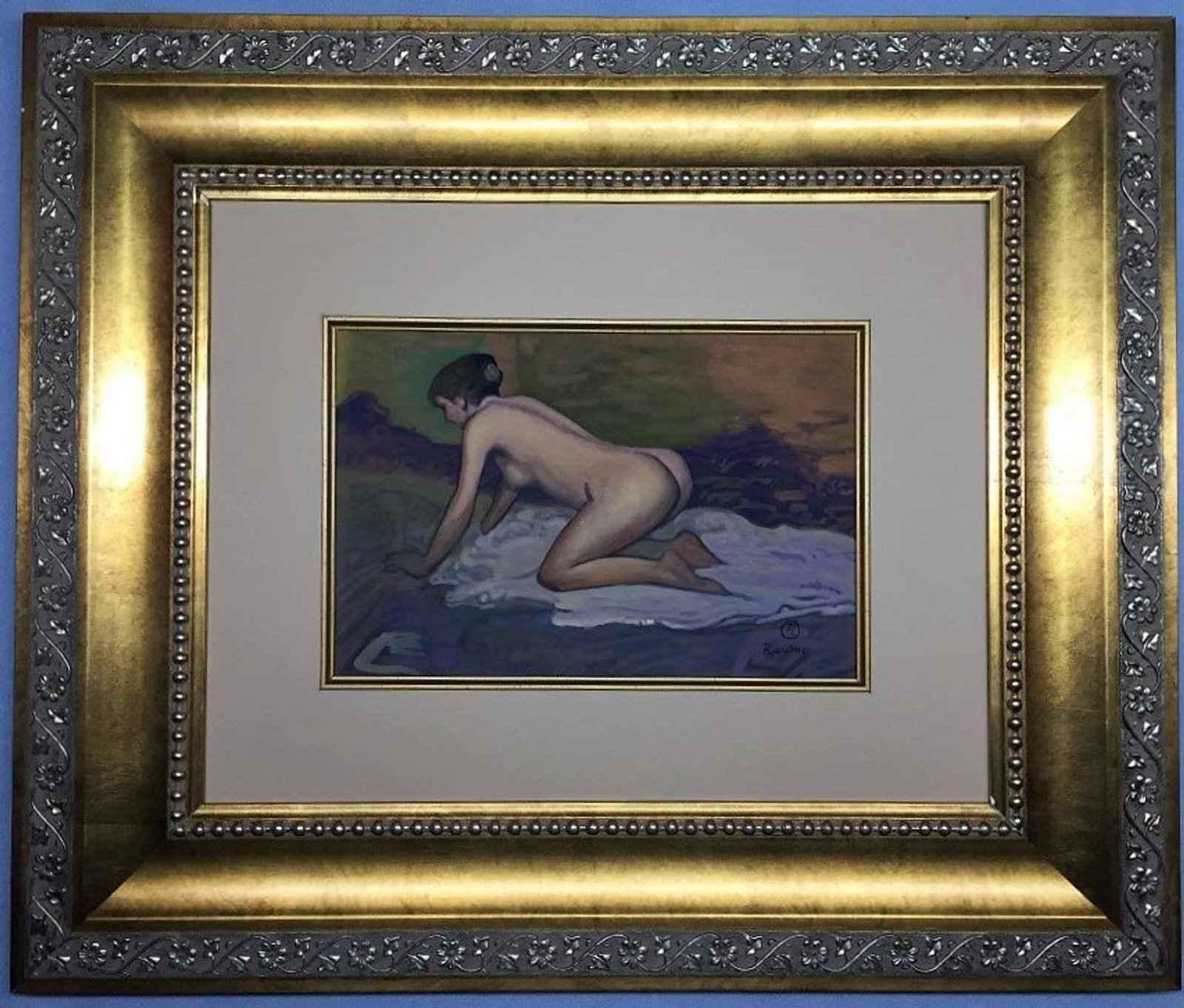 Crouching Woman with ... by  Henri de Toulouse Lautrec - Masterpiece Online