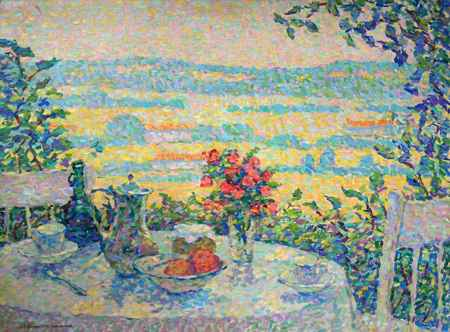A Table in the Shade by  Jeanne Selmersheim-Desgrange - Masterpiece Online