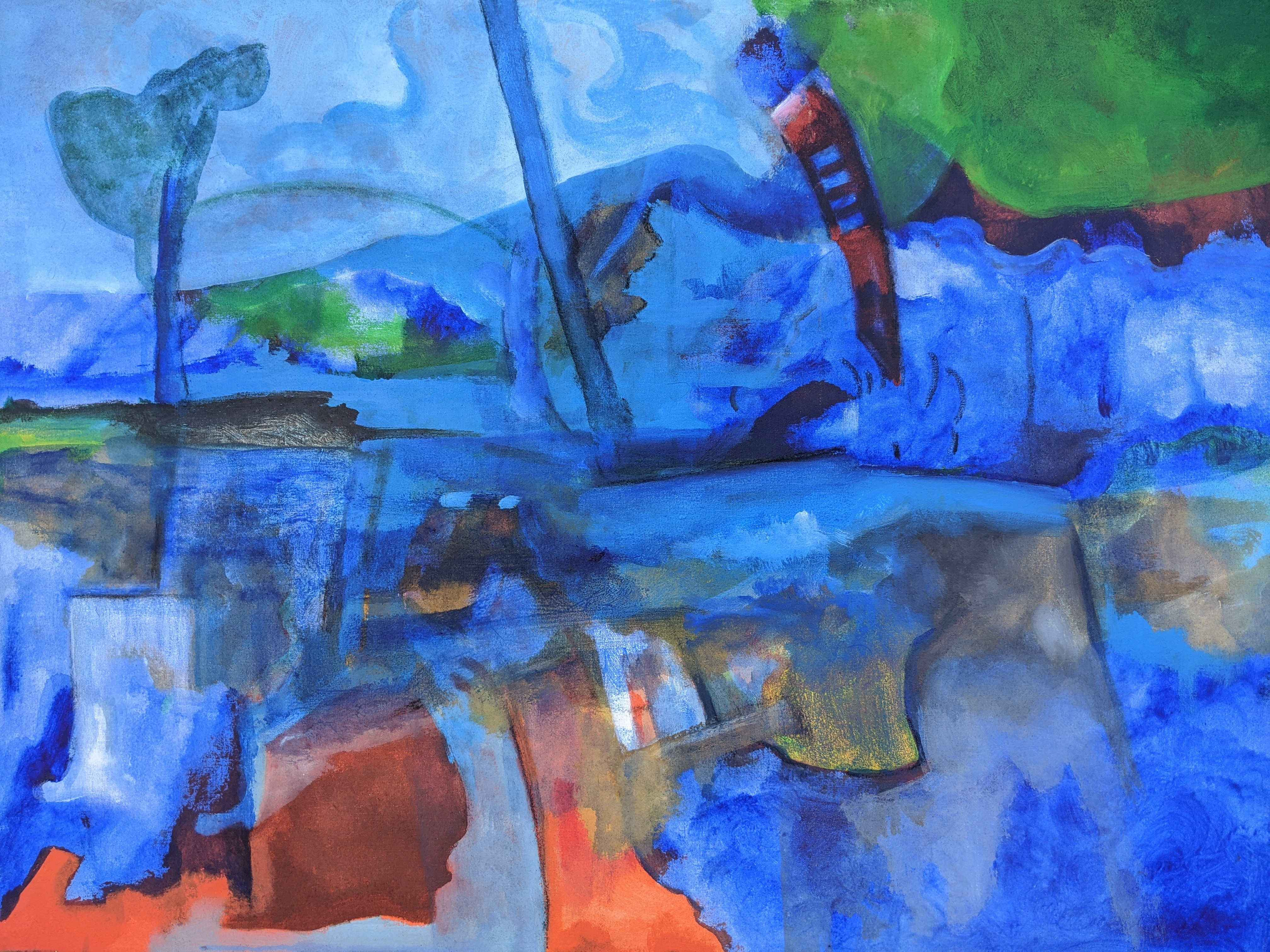 Abstract Blues by  Georges DESARMES - Masterpiece Online