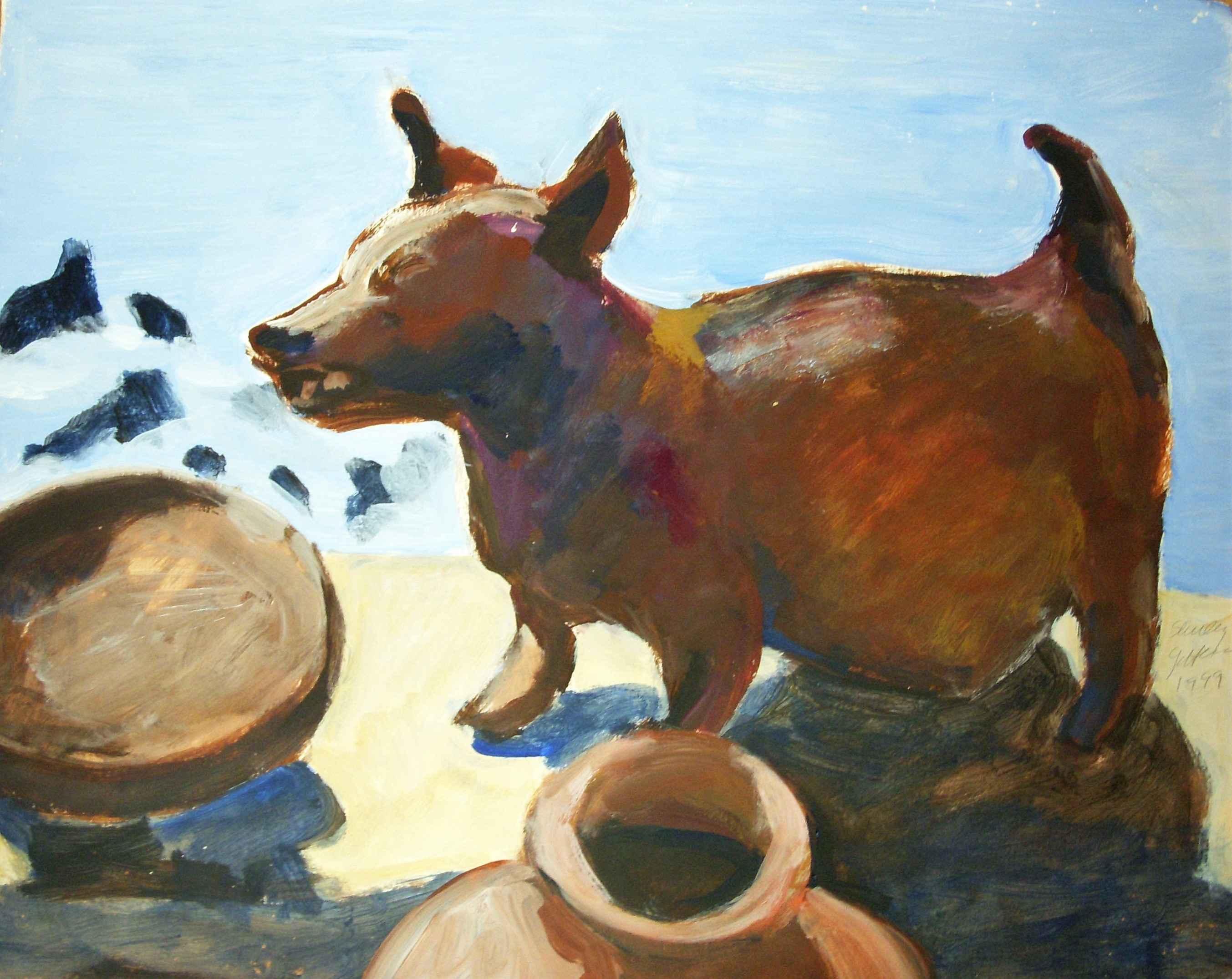 Title unknown (dog wi... by  Shirley Gittelsohn - Masterpiece Online
