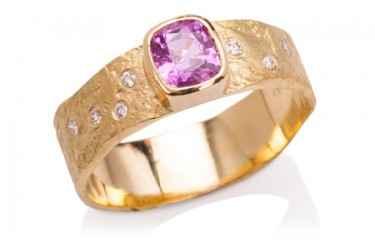 9-10-908 pink sapphir... by  Ross Coppelman - Masterpiece Online