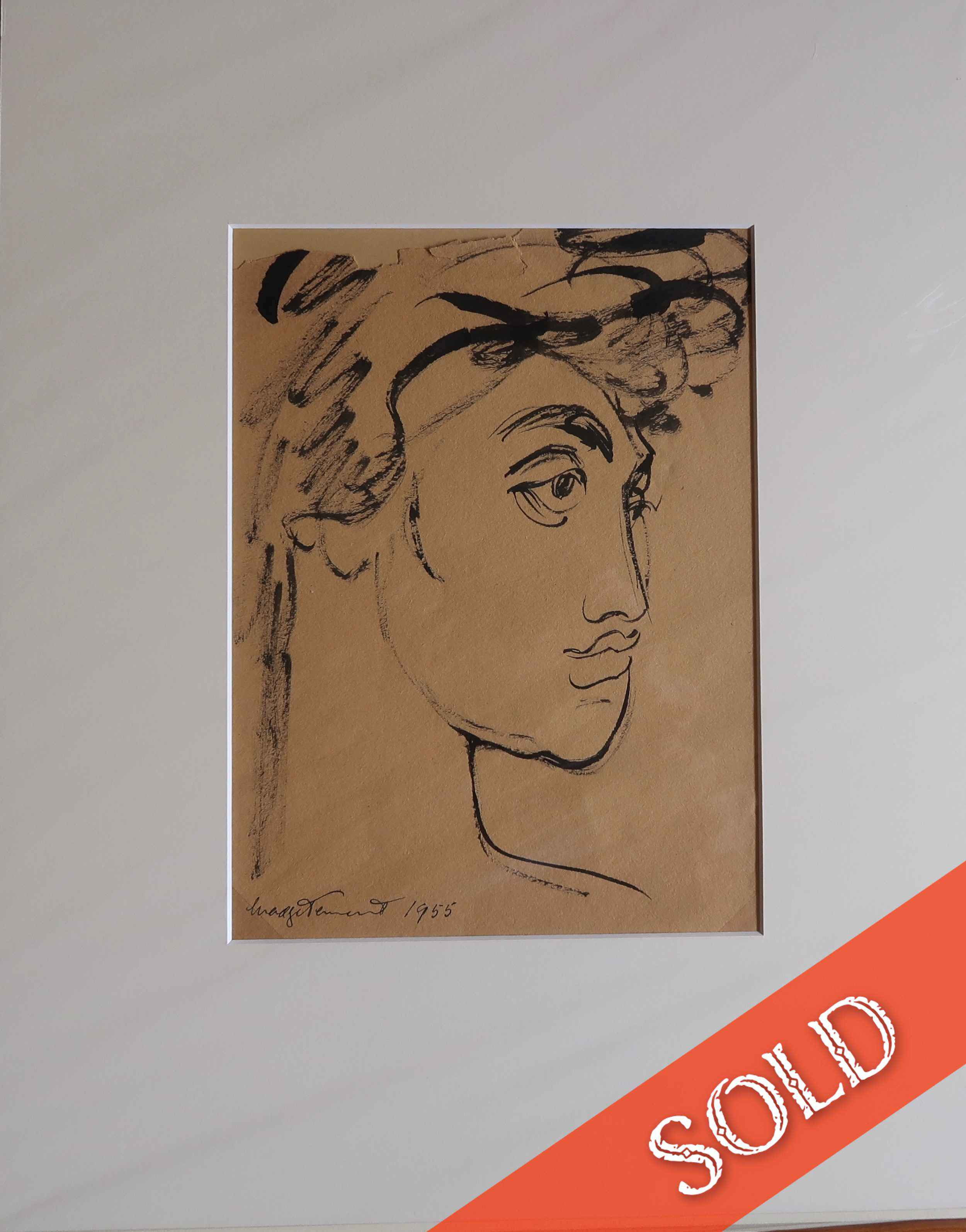 Female Face 2, Line D... by  Madge Tennent (1889-1972) - Masterpiece Online