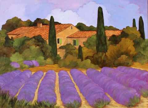 Cypres et les Lavandes by  Lorraine  Jordan - Masterpiece Online