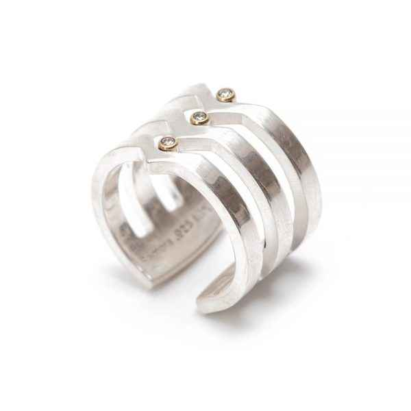 V Strata Diamond Ring by Ms. Maria Samora - Masterpiece Online