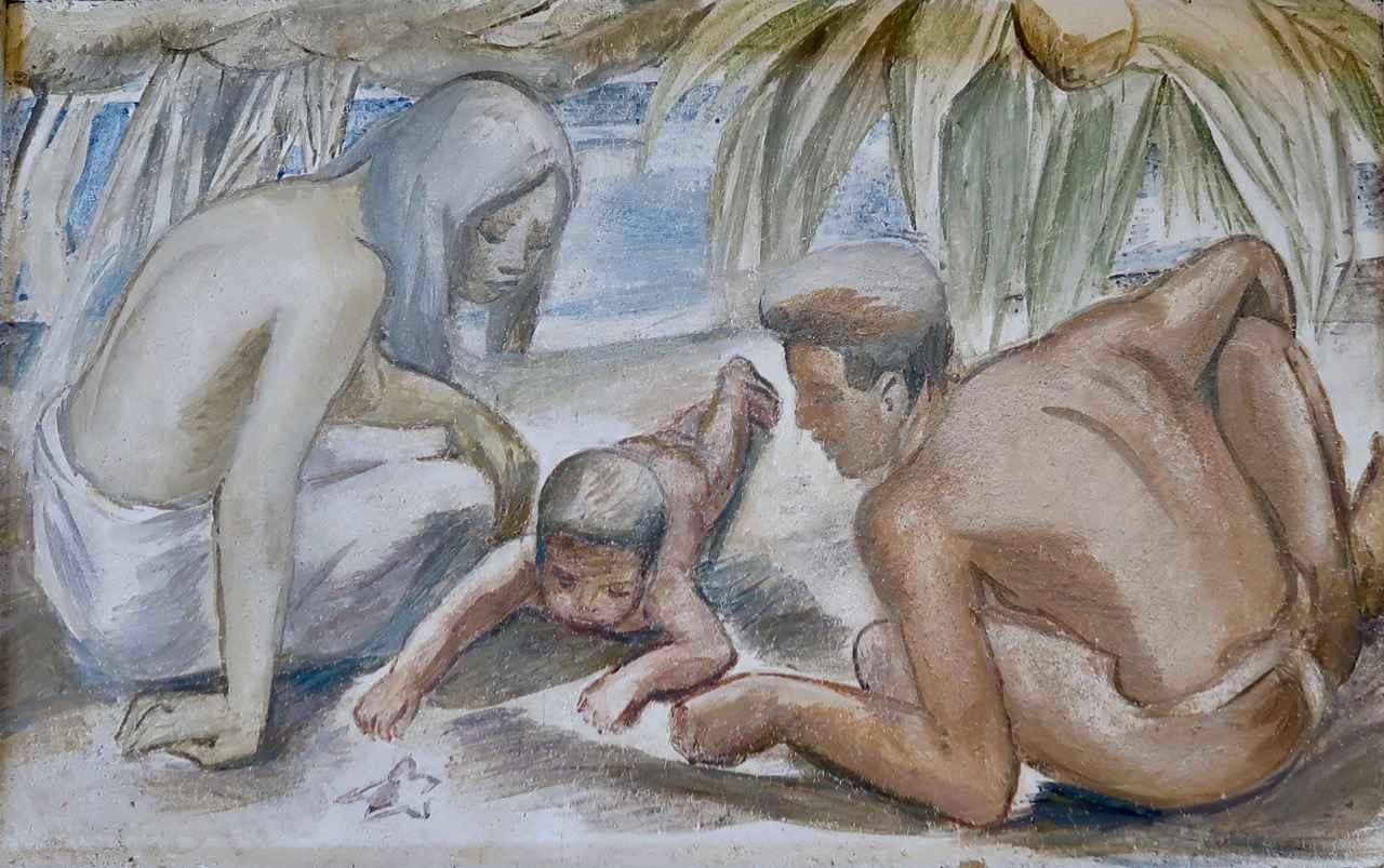 Under the Hala by  Juliette May Fraser (1887-1983) - Masterpiece Online
