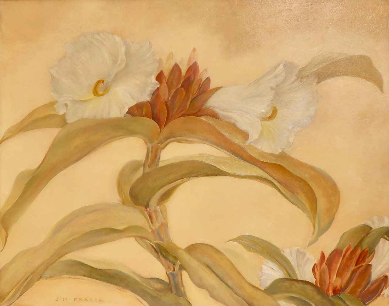 Hawaiian Flower - Cre... by  Juliette May Fraser (1887-1983) - Masterpiece Online