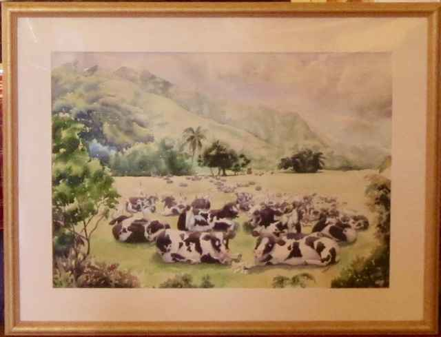 Lounging Cows by  Peggy Chun (1946-2008) - Masterpiece Online