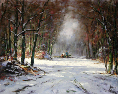 Winter in the Forest by  Nanne  Balyon  - Masterpiece Online