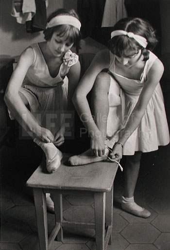 Young Girls at Ballet... by  Alfred Eisenstaedt - Masterpiece Online