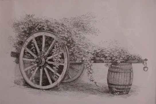 Ivy on Wagon Wheel Pl... by  Edwin B. Kayton - Masterpiece Online