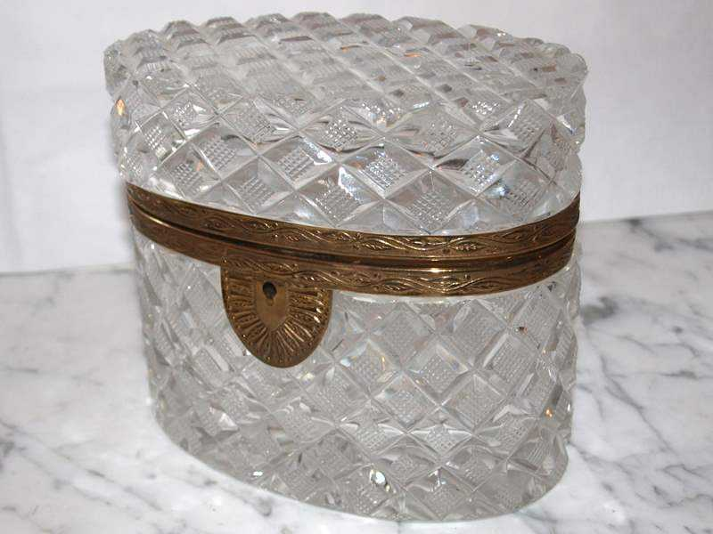 Oval Cut Crystal Box by  French  - Masterpiece Online