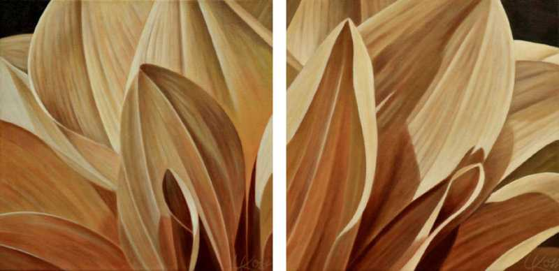 Dahlia 5 (Diptych) by  Laurie Koss - Masterpiece Online