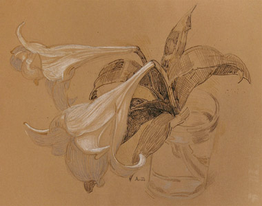 Lillies II represented by  by  Andren And Olga Dugin