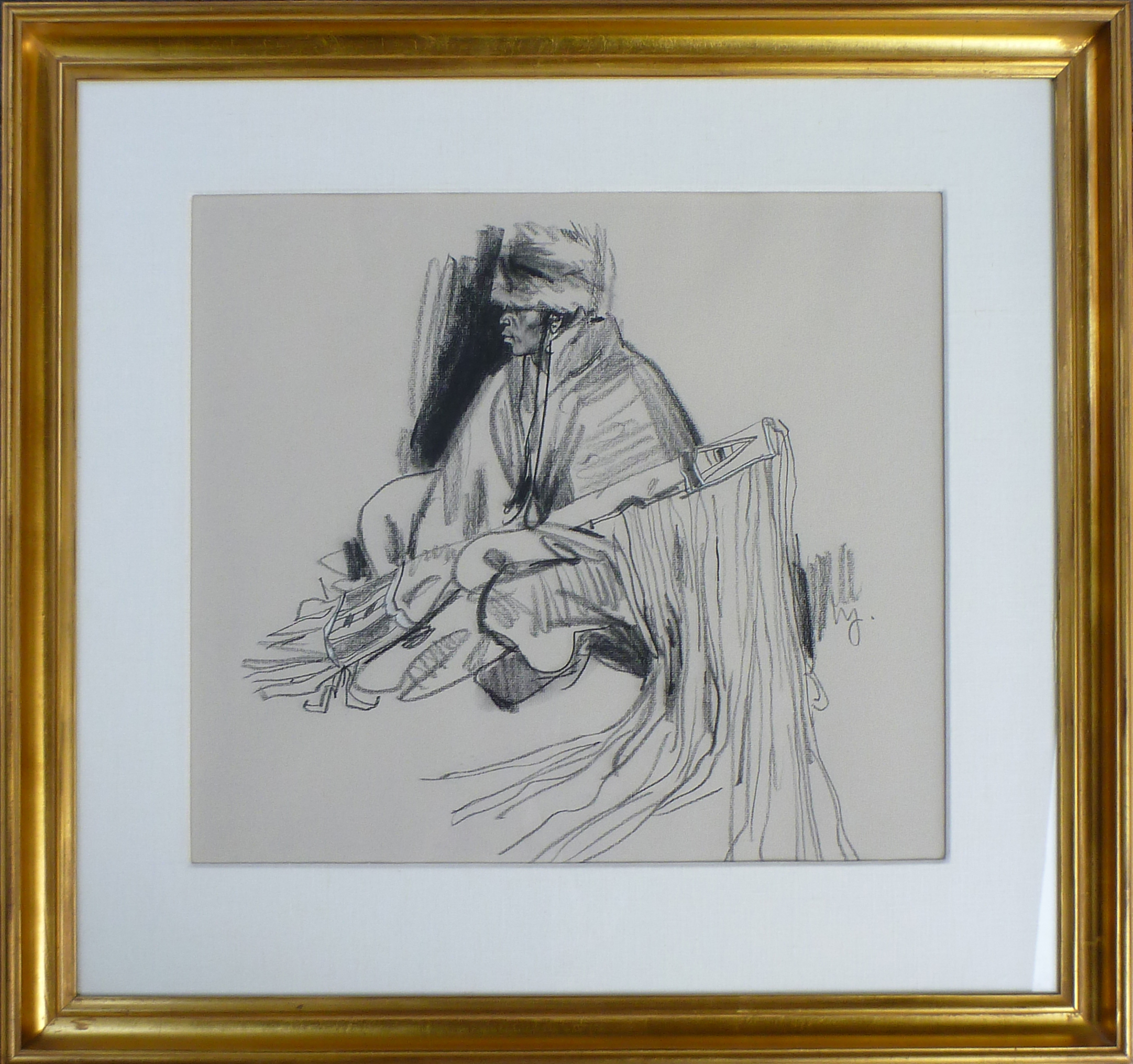 Seated Indian with Ri... by  Ned Jacob - Masterpiece Online