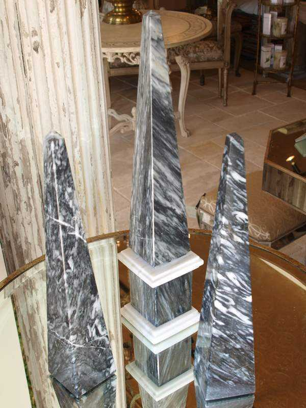 Set of 3 Obelisks by  None None - Masterpiece Online
