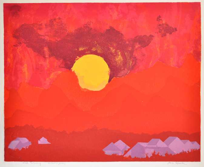 Red Evening by  Jane Kraike (1910-1991) - Masterpiece Online