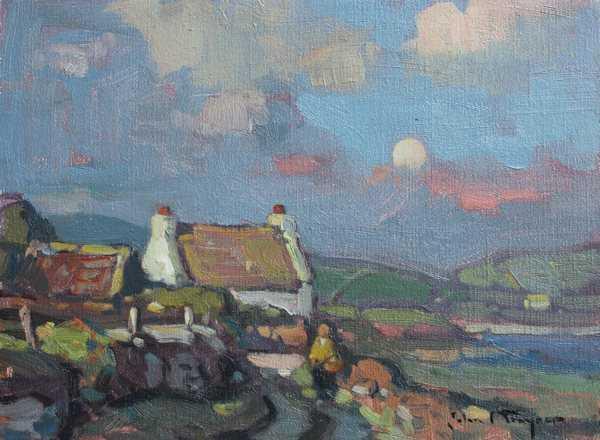Rising Moon, Dingle  by  John C Traynor