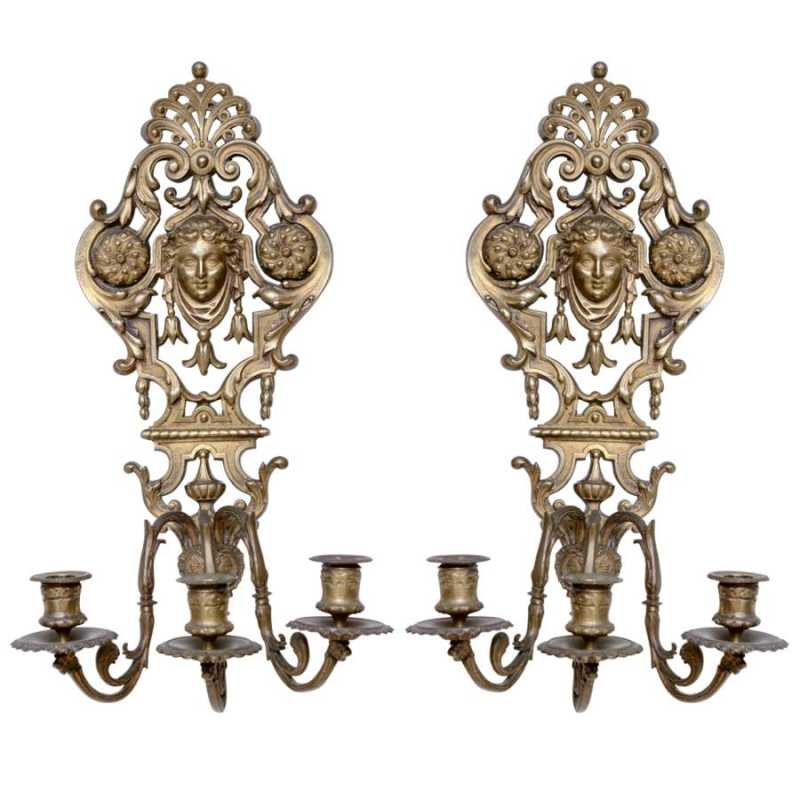 Pair of Bronze Classi... by  French  - Masterpiece Online