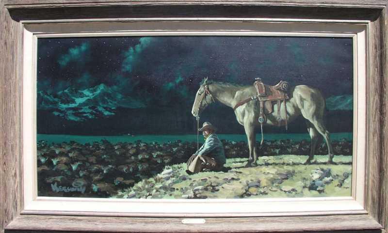 Night Herd by  Roy Kerswill 1925-2002 - Masterpiece Online
