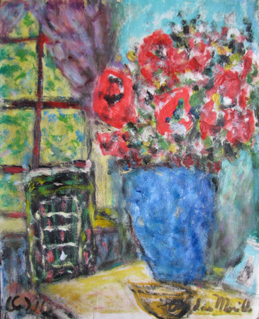 Flowers on the Table by  Andres  Morillo - Masterpiece Online