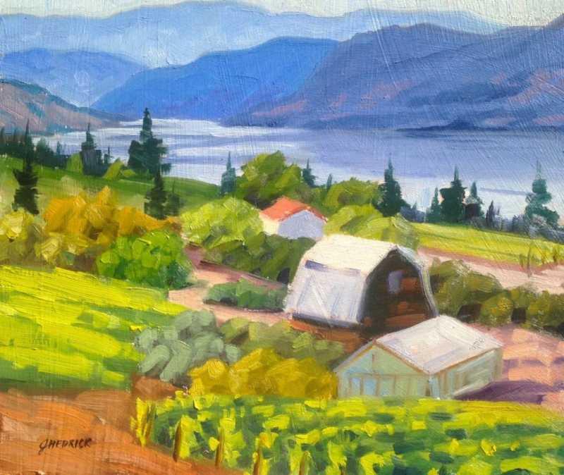 Kelowna Vineyards by  Jessica Hedrick - Masterpiece Online