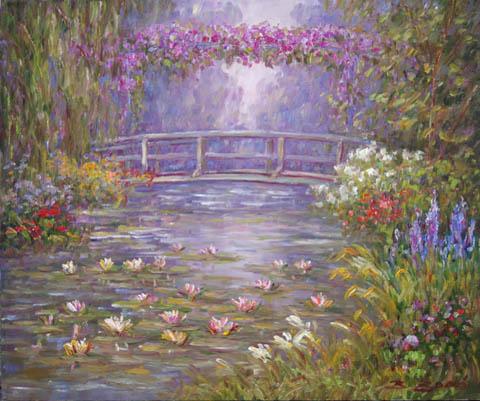 Bridge Pond by  Bela  Bodo  - Masterpiece Online