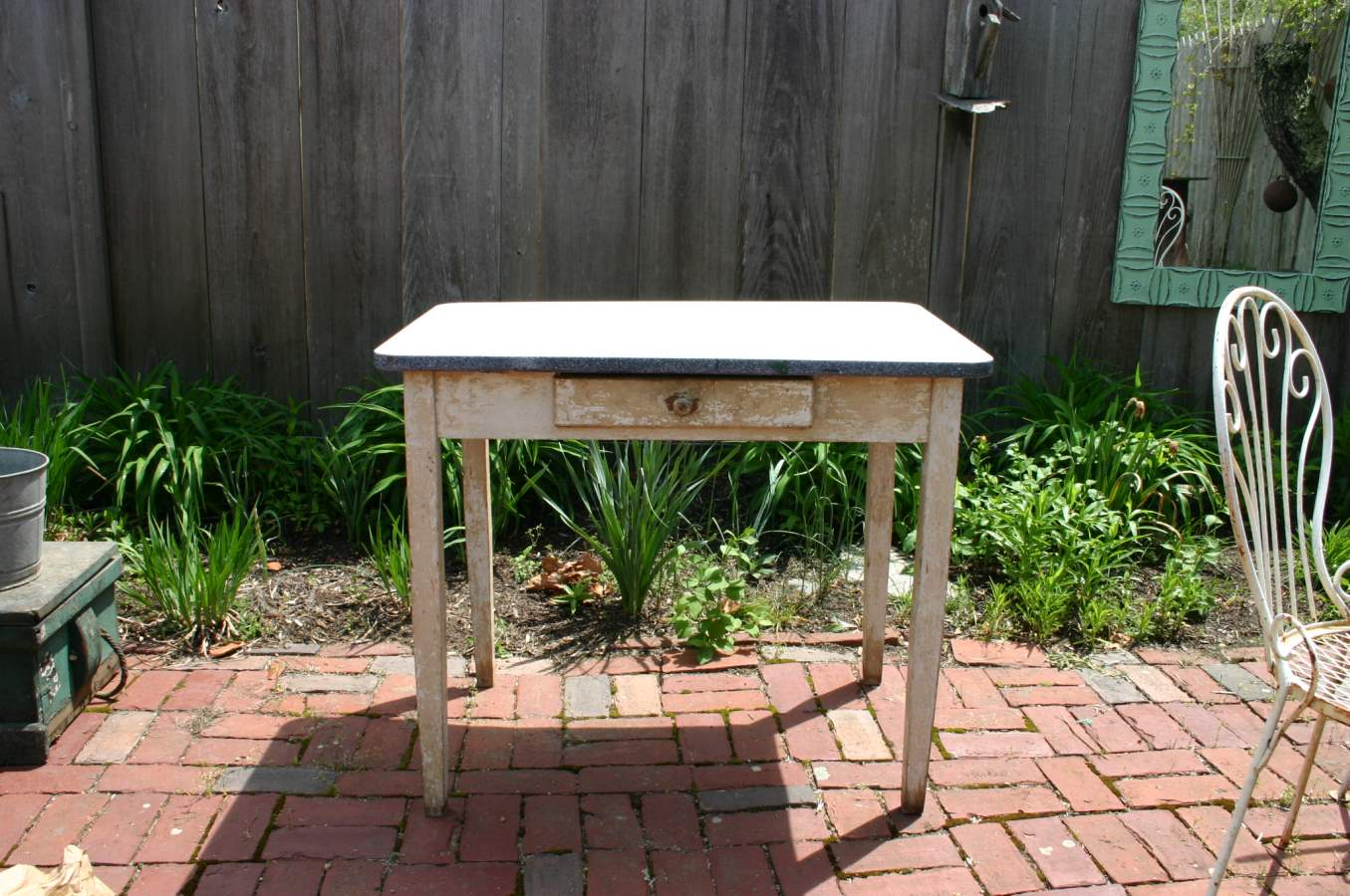 White Enamel Bakers T... by  Antiques  - Masterpiece Online