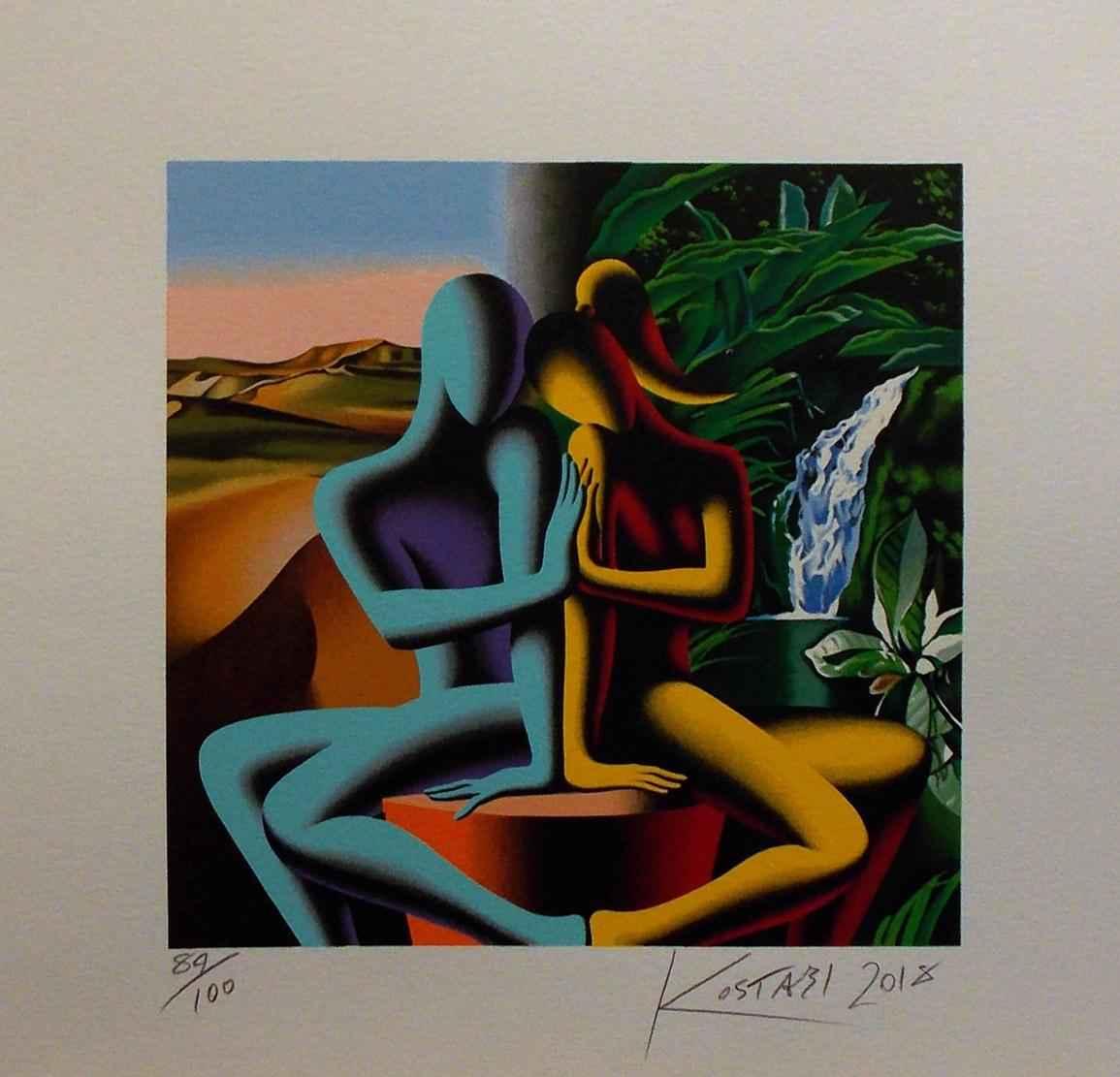 Touching Dreams by  Mark Kostabi - Masterpiece Online