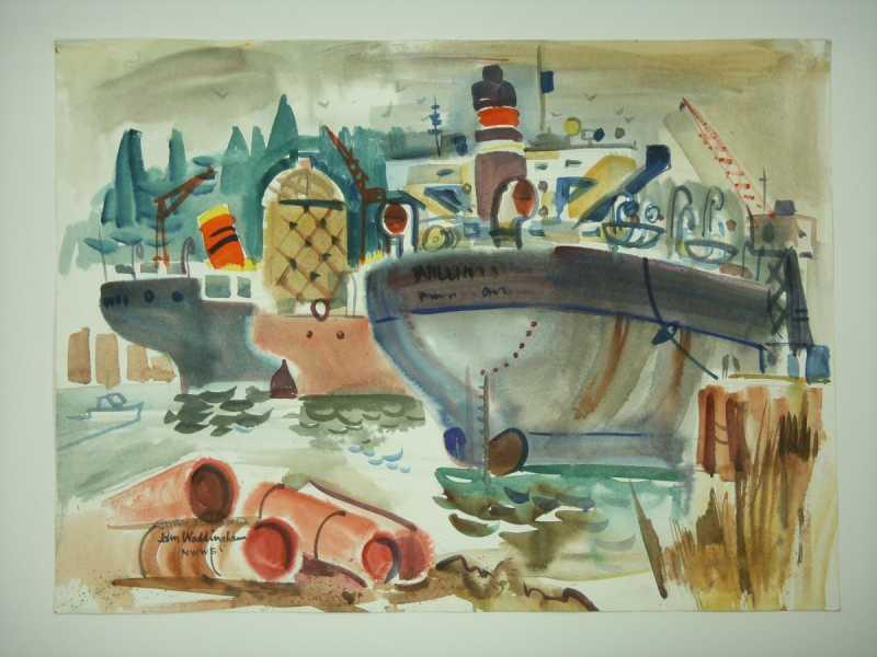 Swan Island by  John Waddingham - Masterpiece Online