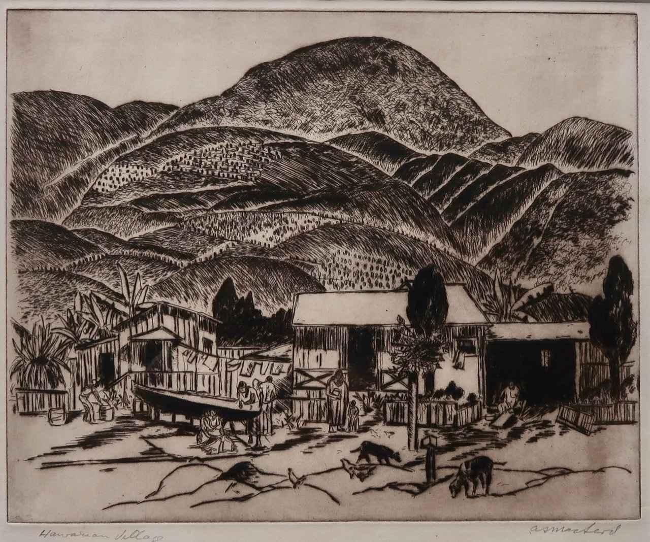 Hawaiian Village by  Alexander Samuel MacLeod (1888-1956) - Masterpiece Online