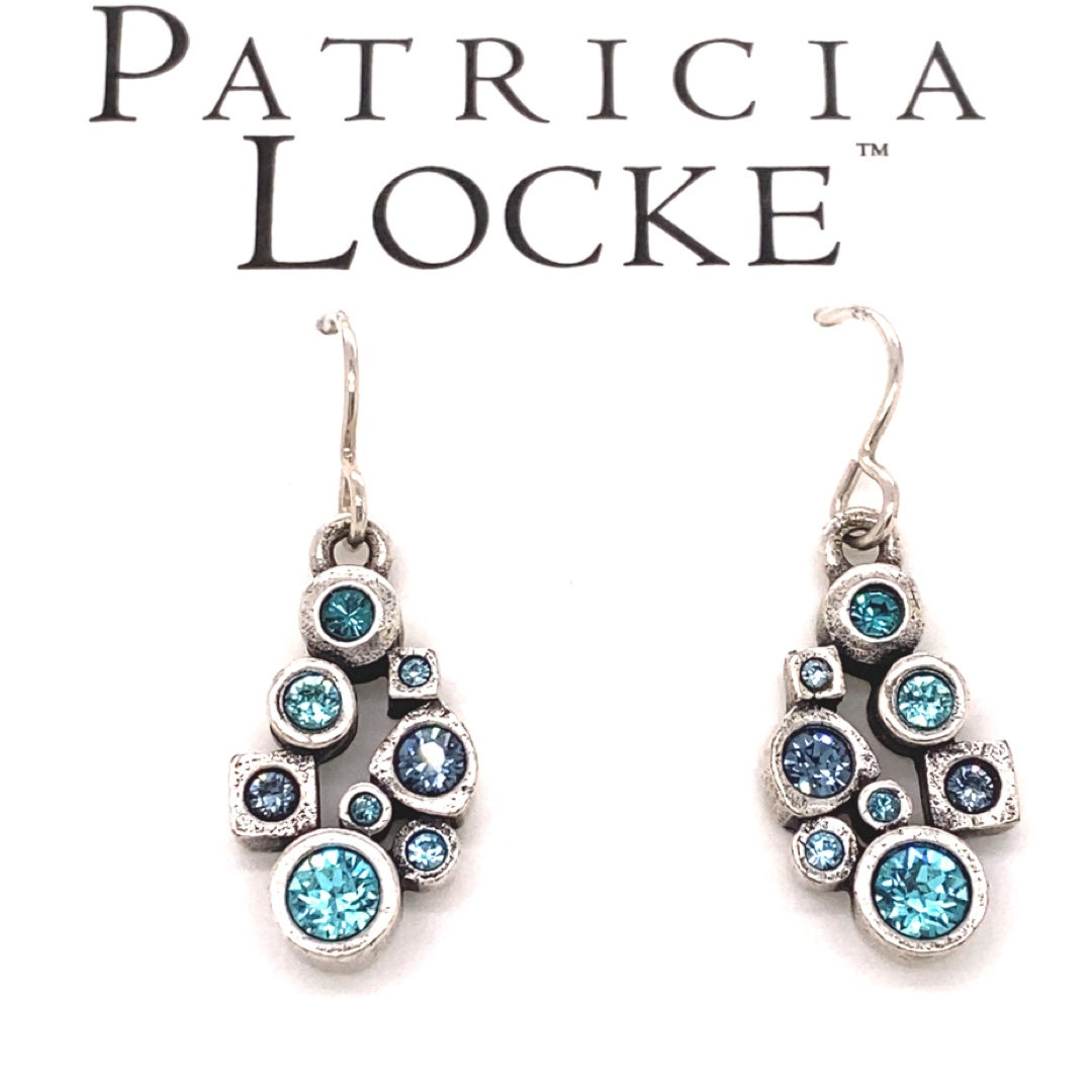 Nectar Earrings in Silver, Bermuda