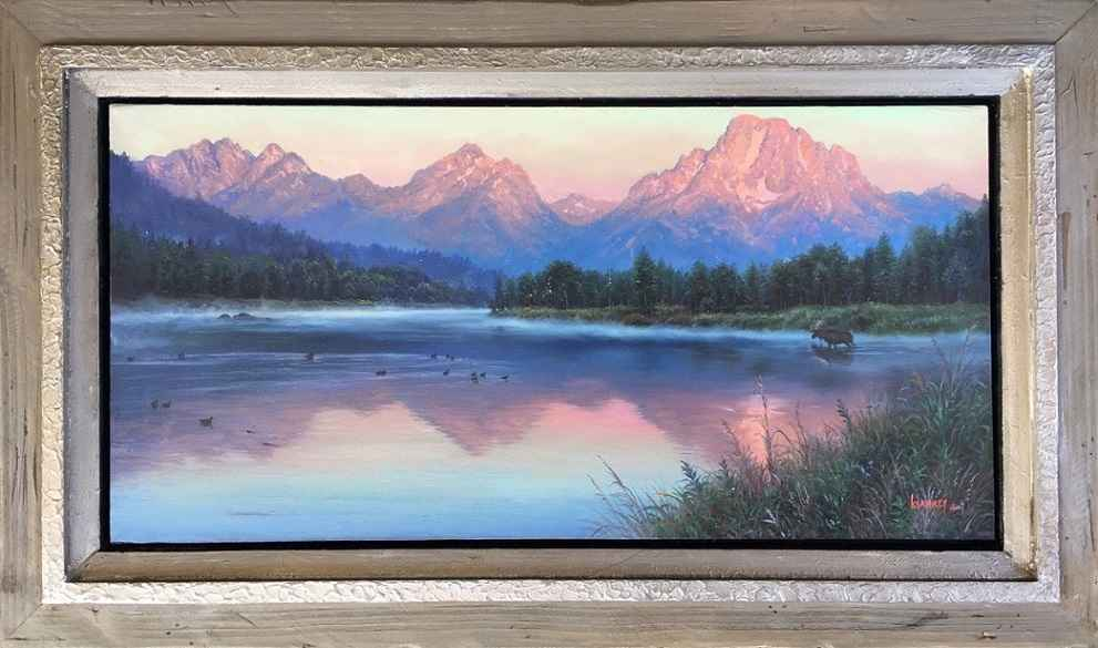 Bull At Oxbow Bend by  Mark Keathley - Masterpiece Online