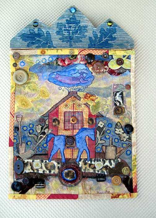 Retablo, Blue Horse A... by Mrs Fran Patterson - Masterpiece Online