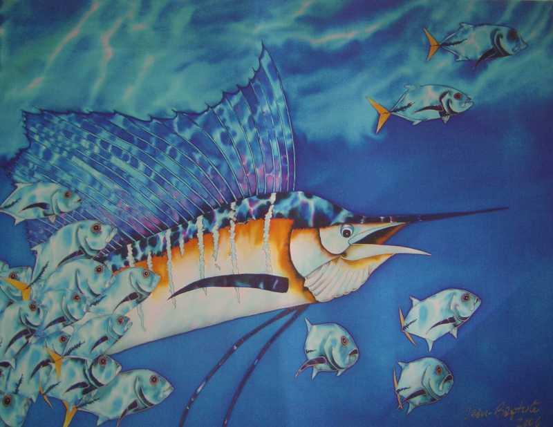 Sailfish and Jacks by Mr. Daniel Jean Baptiste - Masterpiece Online