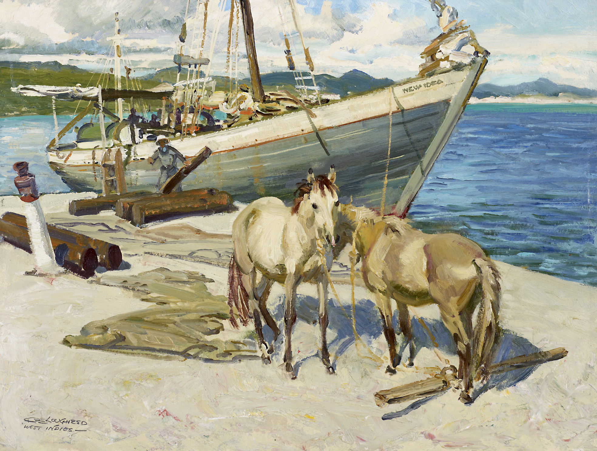 Christiansted Harbour by  Robert Lougheed - Masterpiece Online