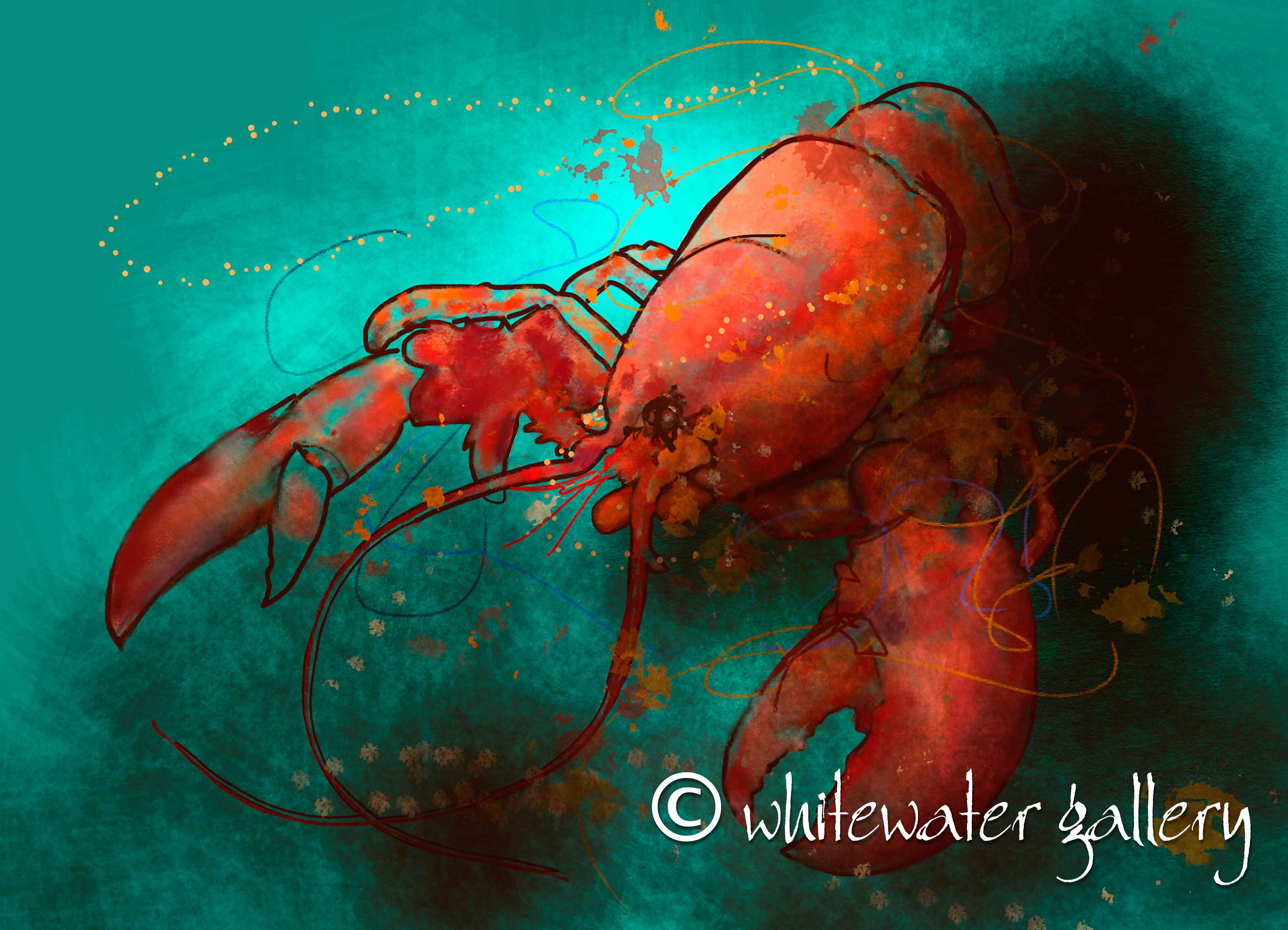 Red Lobster Tablemat by   Placemats & Coasters - Masterpiece Online