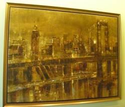 Manhattan Bridge by   Angellini - Masterpiece Online