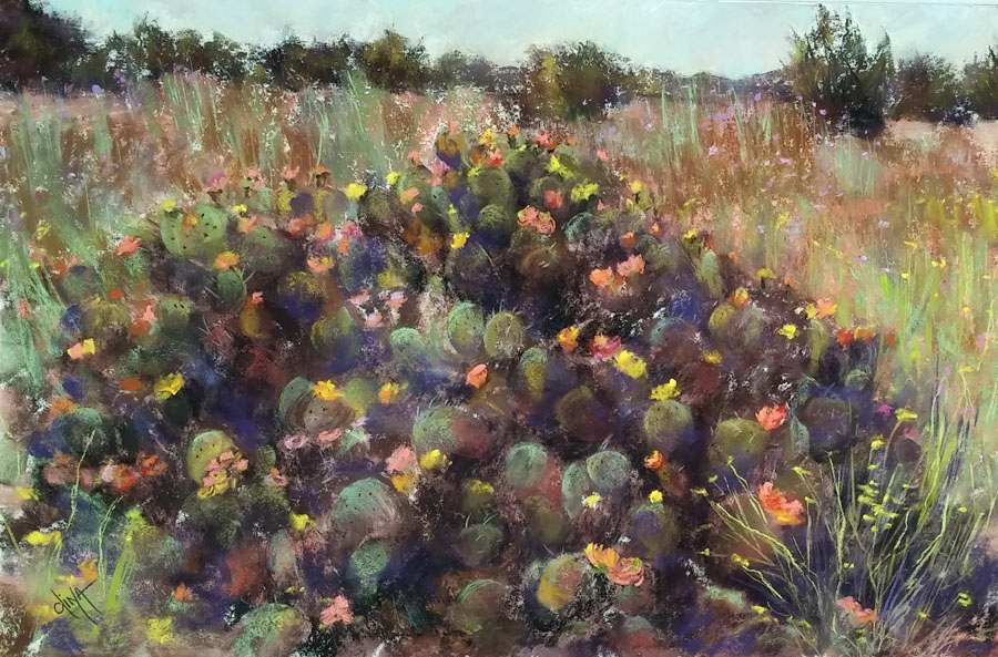Blooming Cactus by Mrs Dina Gregory - Masterpiece Online